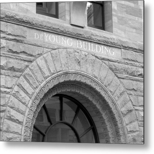 Stone Work Metal Print featuring the photograph De Young Building by Douglas Pike
