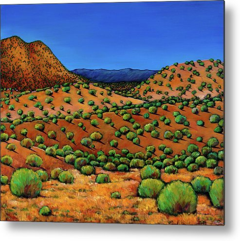New Mexico Desert Metal Print featuring the painting Desert Afternoon by Johnathan Harris