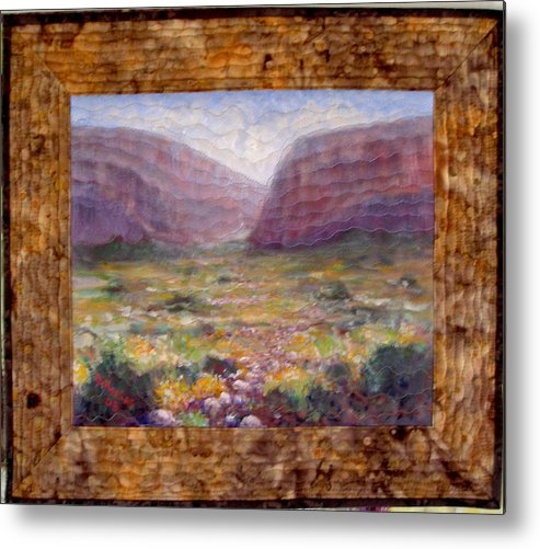 Realism Metal Print featuring the mixed media Desert Spring by Diane and Donelli DiMaria