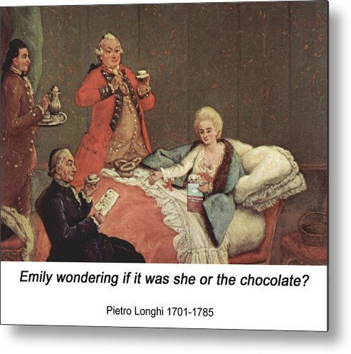 Altered Art Metal Print featuring the digital art Early Morning Chocolate by John Saunders