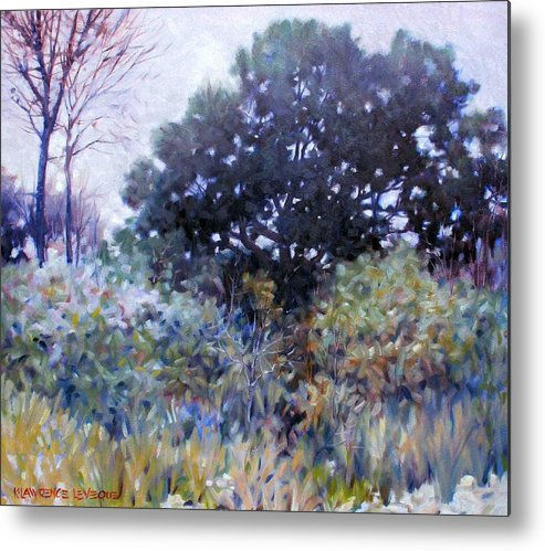 Landscape Metal Print featuring the painting Empty Lot by Kevin Lawrence Leveque
