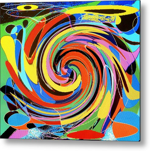 Metal Print featuring the digital art Escaping The Vortex by Ian MacDonald