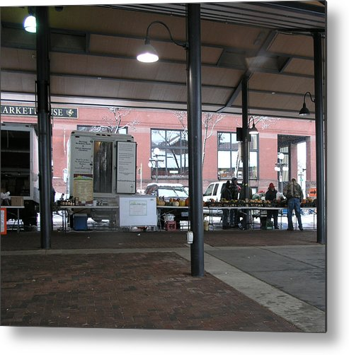 Lowertown Metal Print featuring the photograph Farmers Market In The Winter by Janis Beauchamp
