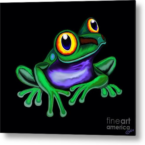 Frog Metal Print featuring the digital art Frog Eyes by Nick Gustafson