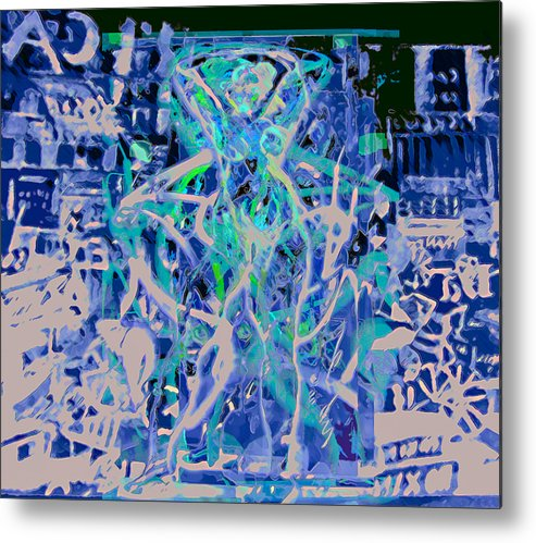 Graphiti Metal Print featuring the painting Grafiti Dance by Noredin Morgan