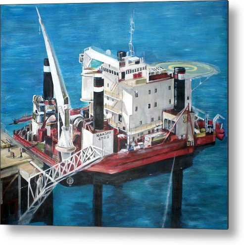 Metal Print featuring the painting Gulf Marine Services - Naashi by Fiona Jack