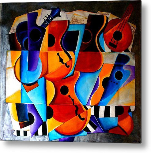 Banjo Metal Print featuring the painting Harmony by Vel Verrept