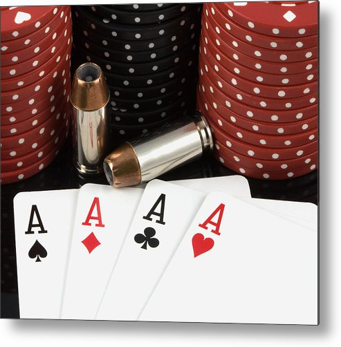 Aces Metal Print featuring the photograph High Stakes Poker by Al Mueller