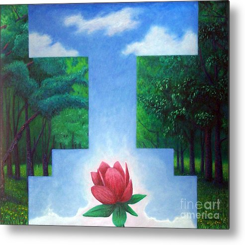 Spiritual Metal Print featuring the painting Inner Bliss by Brian Commerford