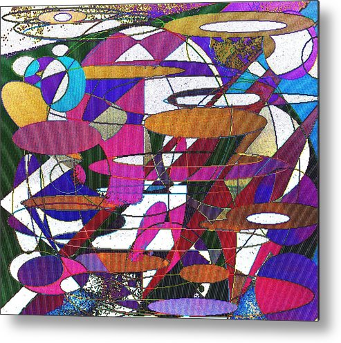 Abstract Metal Print featuring the digital art Intergalatic by Ian MacDonald