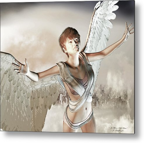 Angel Metal Print featuring the digital art Is There Not One by Jean Gugliuzza