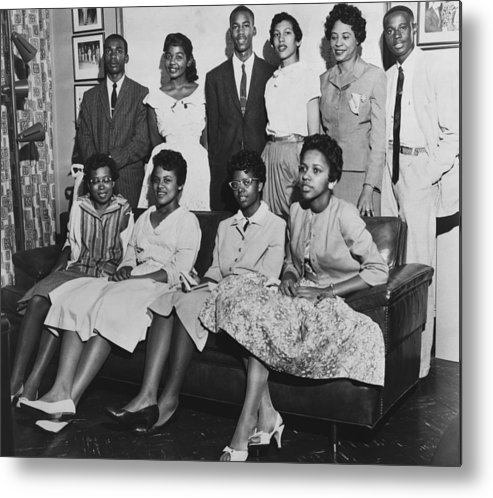 History Metal Print featuring the photograph Little Rock Nine And Daisy Bates Posed by Everett