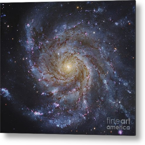 H Ii Regions Metal Print featuring the photograph Messier 101, The Pinwheel Galaxy by Robert Gendler
