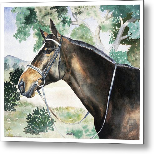 Portrait Metal Print featuring the painting Millie by Eileen Hale