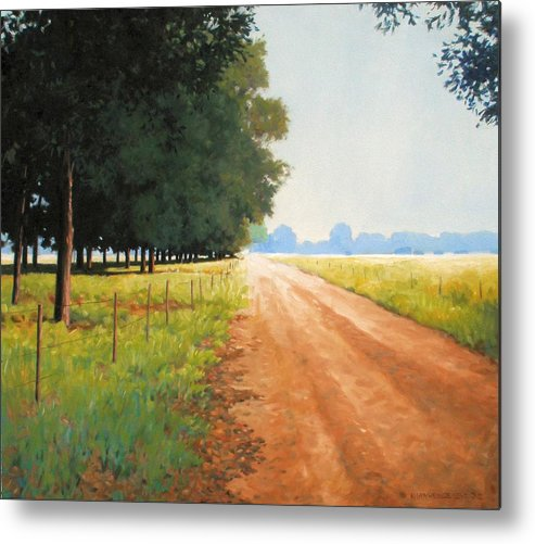 Landscape Metal Print featuring the painting Monday Morning by Kevin Lawrence Leveque