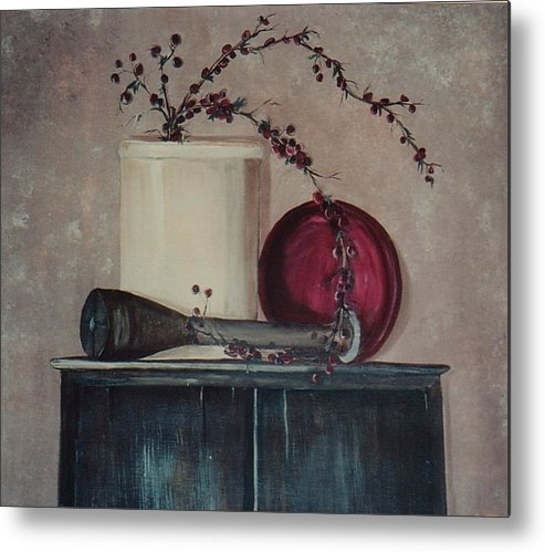 Crock Metal Print featuring the painting Old by Jessica Mason