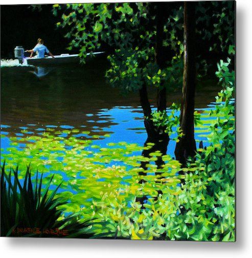 Calcasieu River Metal Print featuring the painting On The Calcasieu by Kevin Lawrence Leveque
