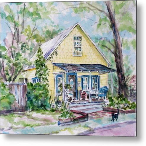House Metal Print featuring the painting One Thirty Five by Ruth Mabee