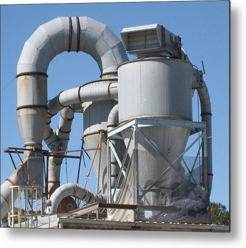 Digital Photograph Metal Print featuring the photograph Paper Recycling Plant 2 by Stephen Hawks