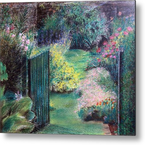 Landscape Metal Print featuring the painting Parc by Muriel Dolemieux