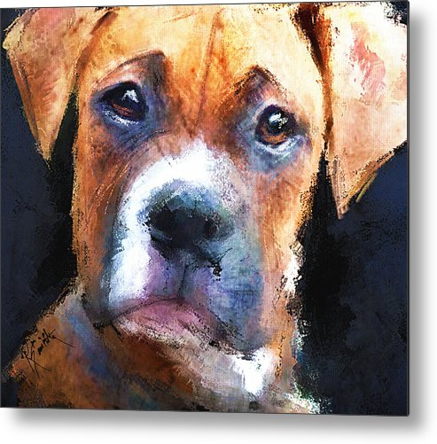 Dog Metal Print featuring the painting Pooch by Robert Smith