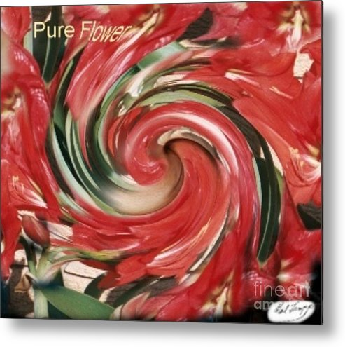 Flower Metal Print featuring the digital art Pure Flower by Neil Trapp