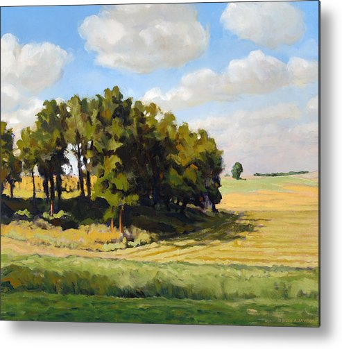 Landscape Metal Print featuring the painting September Summer by Bruce Morrison