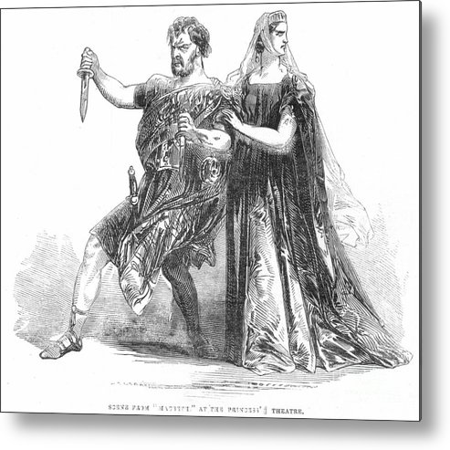 1845 Metal Print featuring the photograph Shakespeare: Macbeth, 1845 by Granger