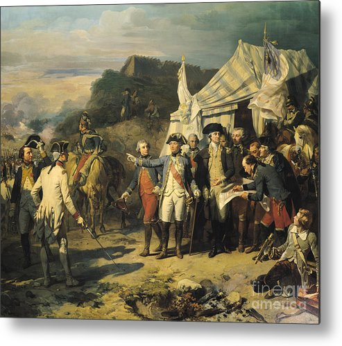 Siege Metal Print featuring the painting Siege Of Yorktown by Louis Charles Auguste Couder