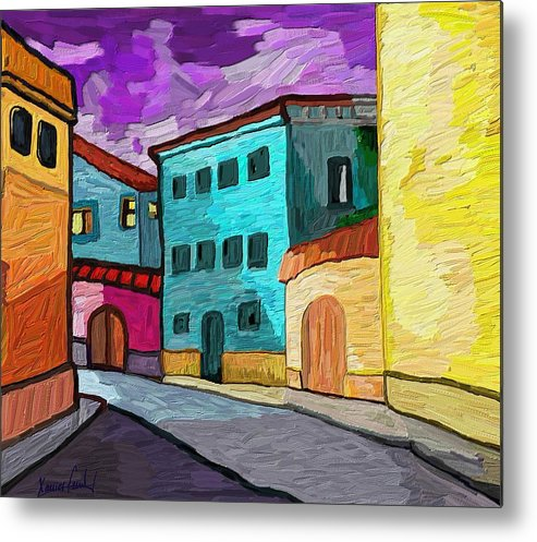 Figurative Metal Print featuring the painting Tarraco by Xavier Ferrer