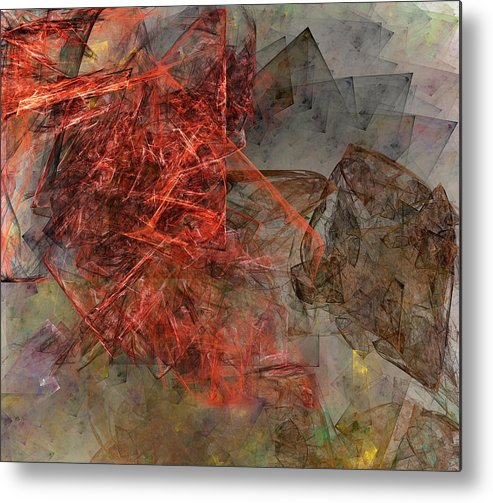 Digital Painting Metal Print featuring the digital art Untitled 01-15-10-a by David Lane