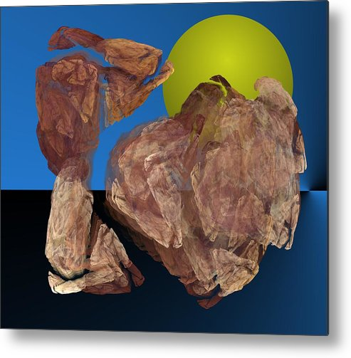 Digital Painting Metal Print featuring the digital art Untitled 01-16-10 by David Lane