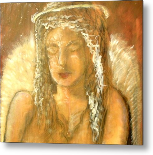 Angels Metal Print featuring the painting Warm Dreams by J Bauer
