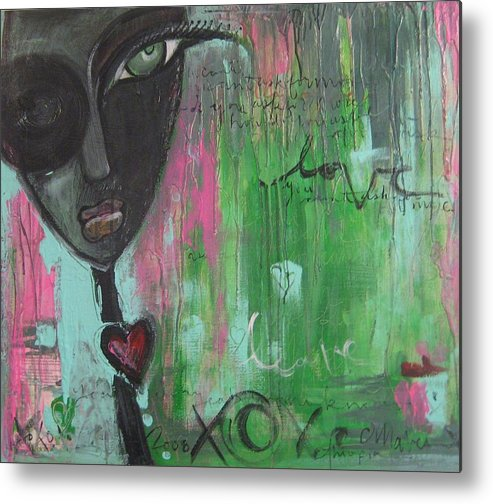 Figurative Metal Print featuring the painting You Cant Ask For More by Laurie Maves ART
