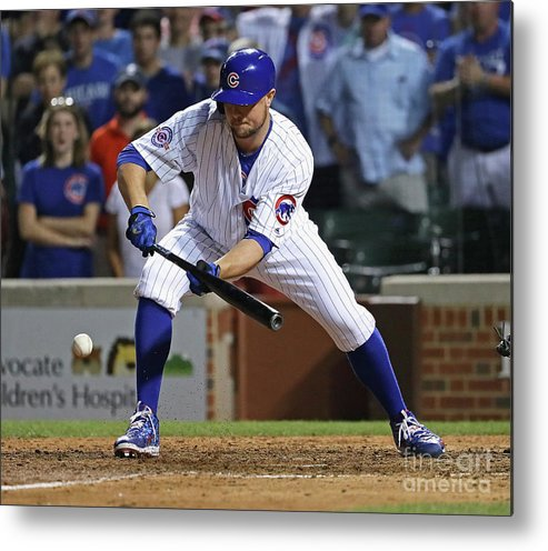 People Metal Print featuring the photograph Seattle Mariners V Chicago Cubs 1 by Jonathan Daniel
