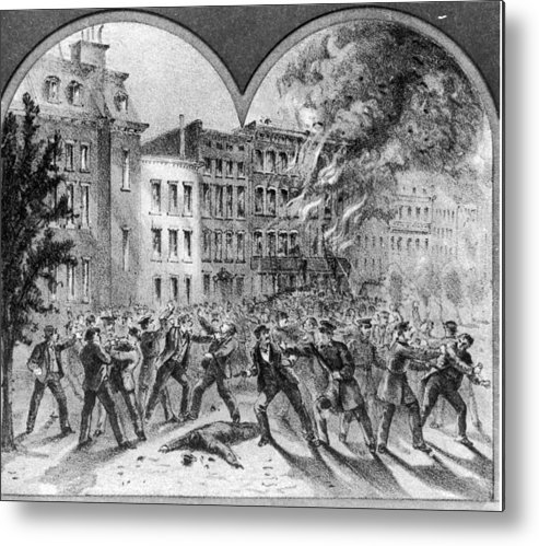 American Civil War Metal Print featuring the photograph Draft Riots by Fotosearch