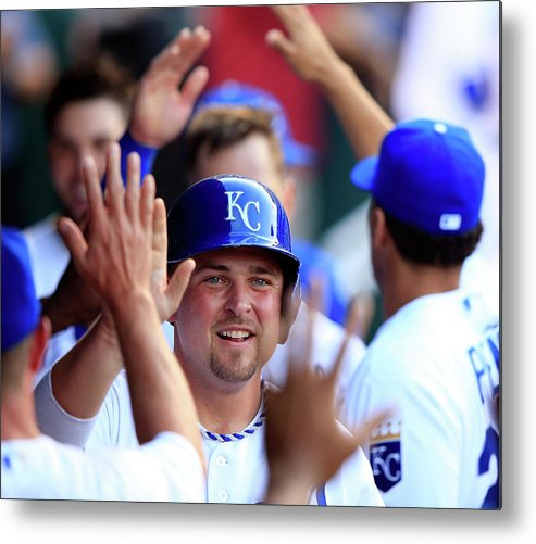 American League Baseball Metal Print featuring the photograph Billy Butler by Jamie Squire