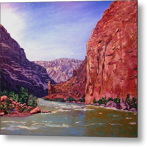 Grand Metal Print featuring the painting Grand Canyon I by Stan Hamilton