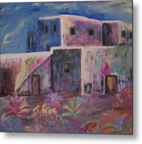Landscape Metal Print featuring the painting Santa Fe Dreams by Lindsay St john