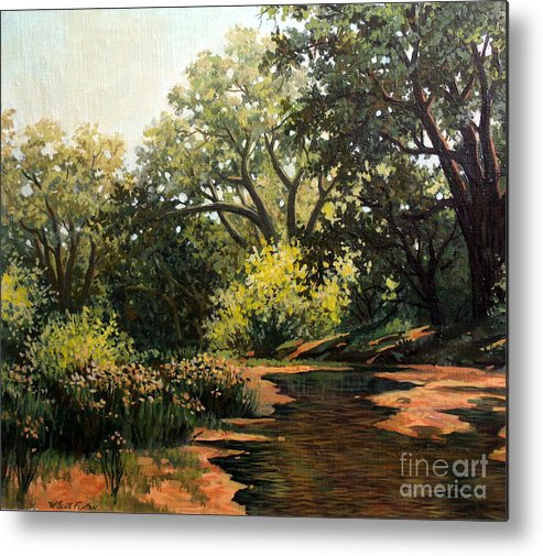 Landscape Metal Print featuring the painting Study Of Michael Stack by W Scott Fenton