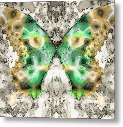 Abstract Butterfly Metal Print featuring the digital art Butterfly Abstraction 6 by Devalyn Marshall