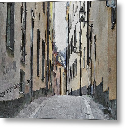 Stockholm Metal Print featuring the digital art Stockholm 13 by Yury Malkov