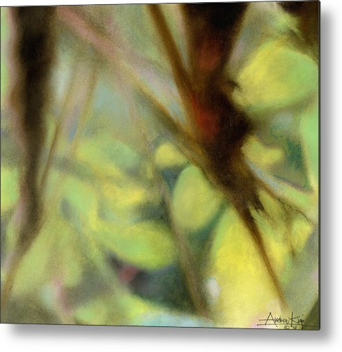 Pastel Metal Print featuring the painting Autumn Dream by Andrew King