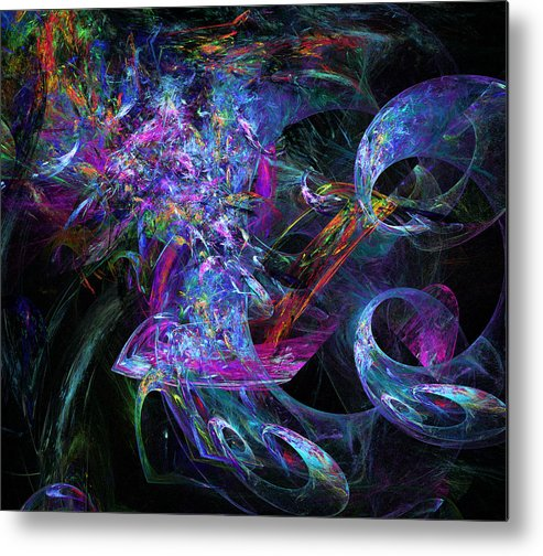 Twirling Metal Print featuring the digital art Twirling by Ricky Barnard