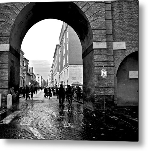 Vatican City Metal Print featuring the photograph Vatican City Wall Rainy by Heather Marshall
