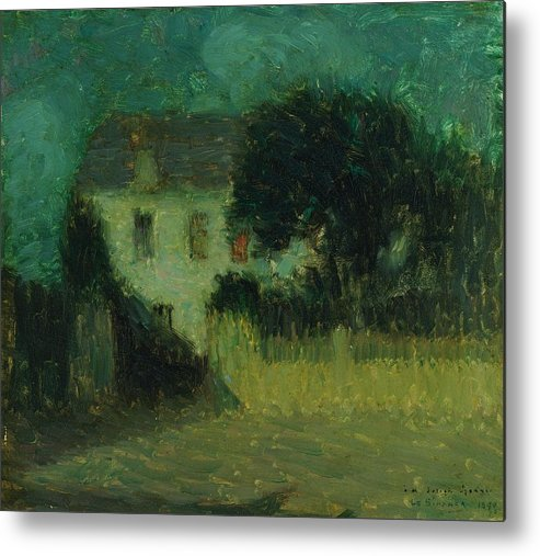 Metal Print featuring the painting Henri Le Sidaner 1862 - 1939 Moonlight by Adam Asar