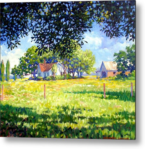 Country Metal Print featuring the painting Jasons House by Kevin Lawrence Leveque