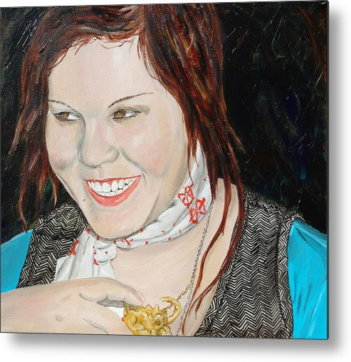 Kevin Callahan Metal Print featuring the painting Alyssa Smiles by Kevin Callahan