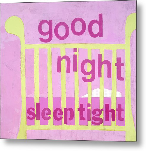 Painting For Nursery Metal Print featuring the painting Good Night Baby by Laurie Breen