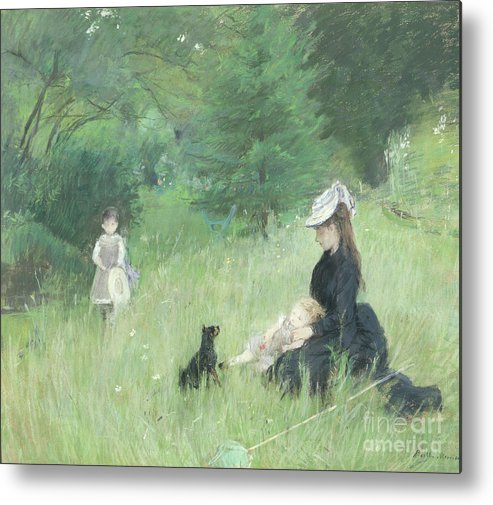 Metal Print featuring the painting In A Park by Berthe Morisot